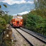 Il Treno dei Sapori rientra dalla valle Camonica attraverso i boschi