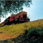 Il Treno attravers il paesaggio collinare della Franciacorta