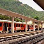 Il Treno dei Sapori in stazione ad accogliere i viaggiatori
