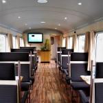 L'accogliente vagone ristorante del Treno dei Sapori